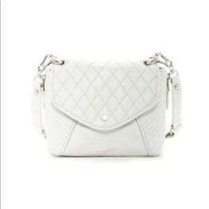Ash Cleo Quilted Crossbody Bag, Off White